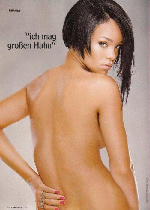 Rihanna обнажилась для журнале FHM (5 фото)