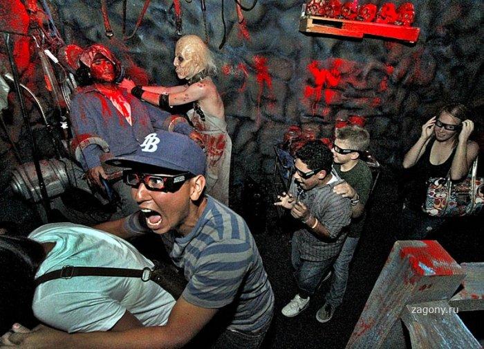 Комната ужасов Universal Studios (10 фото)