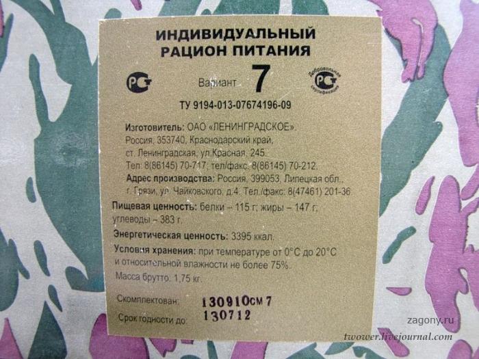 Армейский сухой паек (65 фото)