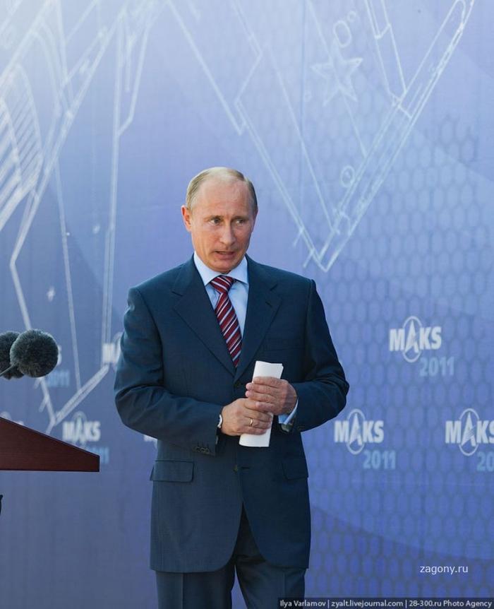 Путин на Международном авиасалоне МАКС 2011 (51 фото)