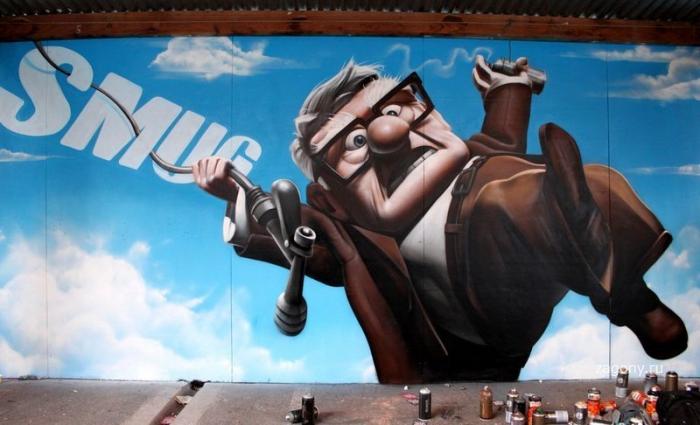 Стрит-арт уличного художника SmugOne (37 фото)