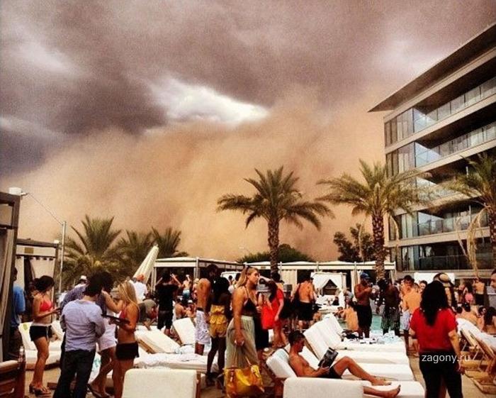 Жуткая песчаная буря в Аризоне (25 фото)