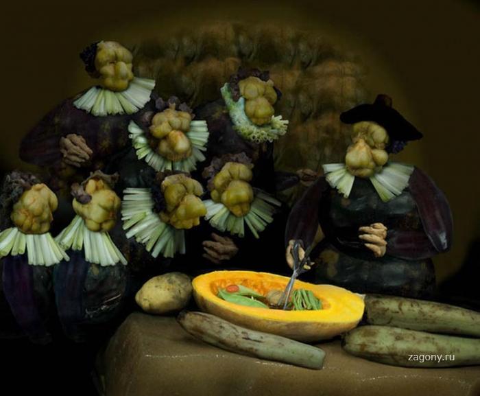 Произведения искусства в ремейках из еды (20 фото)