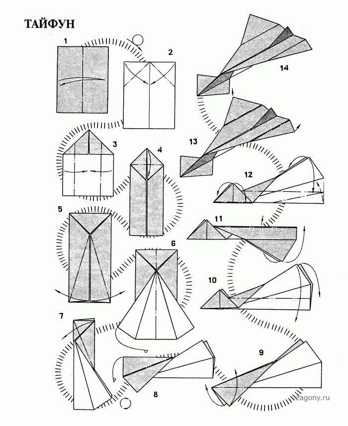 Бумажные самолетики инструкция по картинкам пупс сегодня