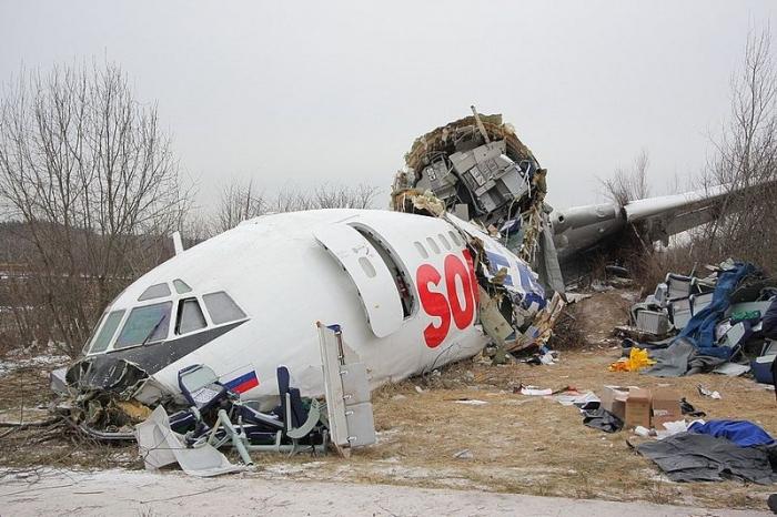 Разбитый самолет в Домодедово (30 фото)