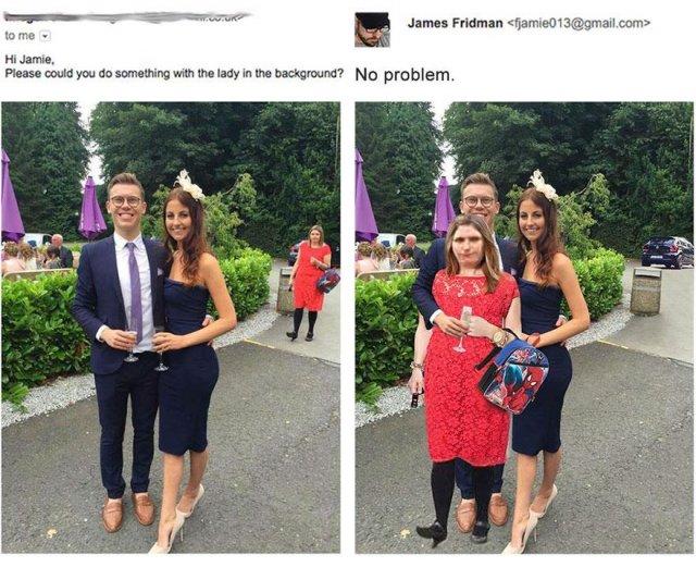 Гуру фотошопа Джеймс Фридман помогает людям (10 фото)